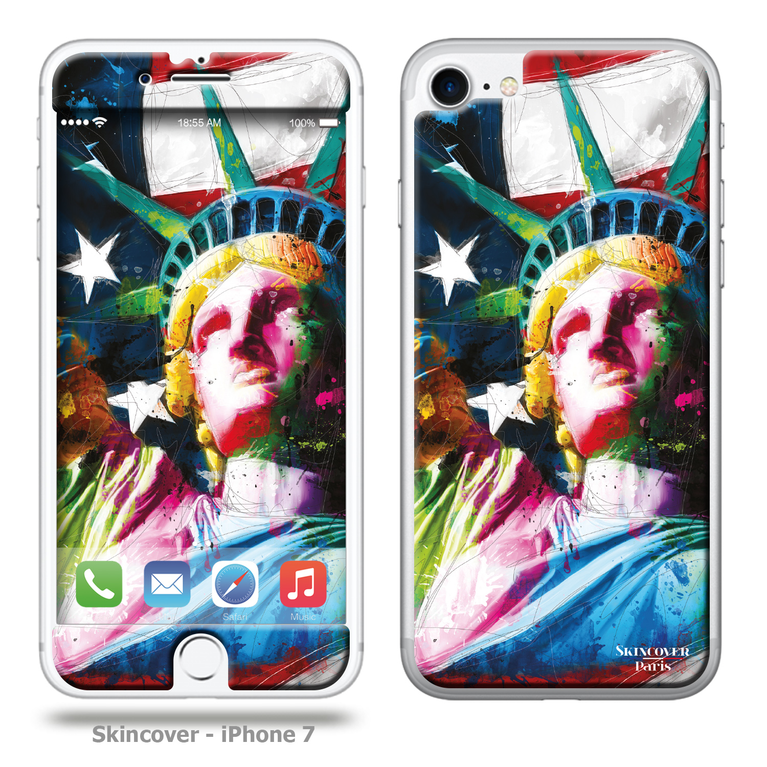 Skincover Liberte  Iphone 7 Murciano USA